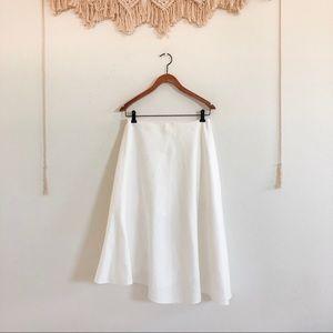 NWOT Vince White Linen Asymmetrical Skirt